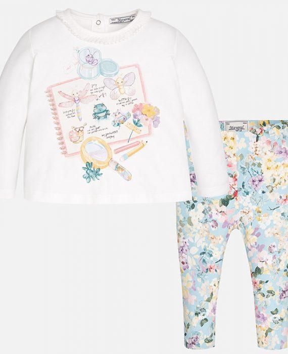 Conjunto de bebé menina com leggings estampados