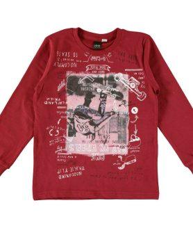 maglietta-in-caldo-cotone-con-stampa-ska-rosso-fronte-01-2424t71200-2536