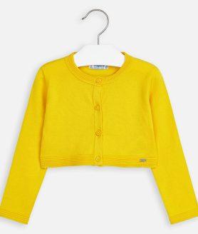 Bolero amarelo básico menina