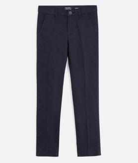 Calças azul marinho chino básico slim fit menino