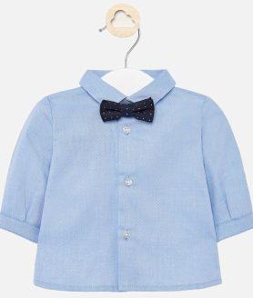 Camisa manga comprida laço bebé recém nascido
