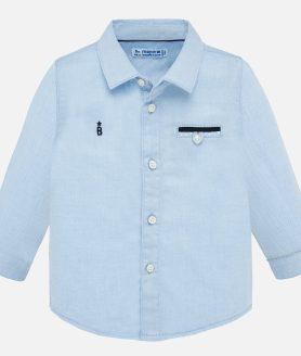 Camisa manga comprida clássica bebé menino