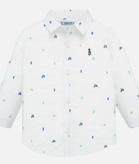 Camisa manga comprida estampada bebé menino
