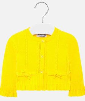Casaco amarelo folho bebé menina