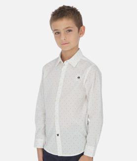 Camisa manga comprida estampada menino