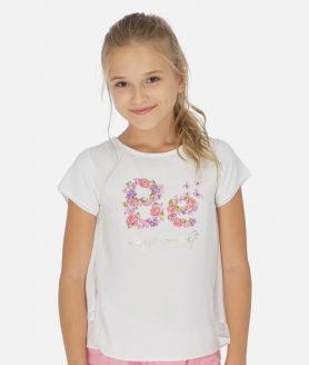 Blusa combinada chiffon menina