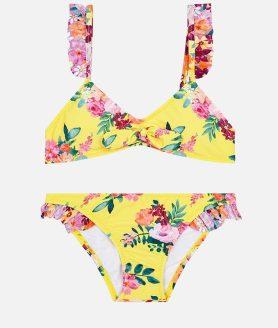 Bikini amarelo estampado