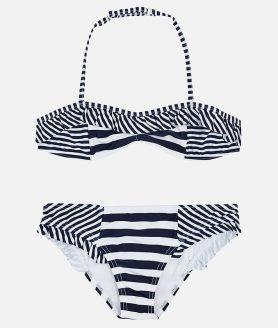 Bikini às riscas